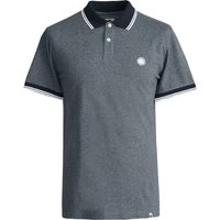 Tipped Collar Polo Shirt (Grey Marl, XS, Plain with Detail)