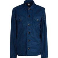 Button Through Overshirt (Navy, XXL, Plain)