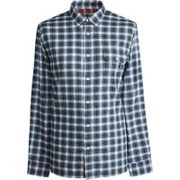Classic Fit Check Shirt (Blue, XL, Check)
