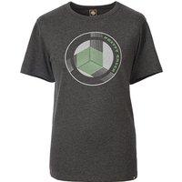Pretty Green Print T-Shirt (Grey Marl, S, Printed)