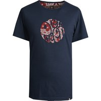 Bandana Print Applique T-Shirt (Navy, XXL, Printed)