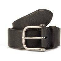 Single Prong Leather Belt (Black, S, Belts)