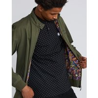 Cotton Harrington Jacket (Khaki, M, Jackets)