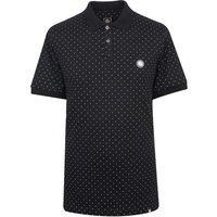 Polka Dot Polo Shirt (Black, XXL, Printed)