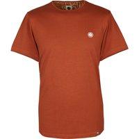 Cotton T-Shirt (Dark Orange, M, Plain)