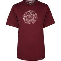 Paisley Print Logo T-Shirt (Burgundy, XXL, Printed)