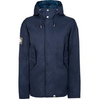 Cotton Zip Up Hooded Jacket (Navy, XS, Jackets)
