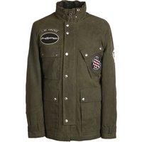 Waxed Cotton Jacket (Khaki, L, Jackets)