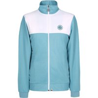 Zip Through Track Top (Light Blue, L, Track top)