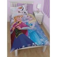 'Disney Frozen Crystal Single Duvet Cover And Pillowcase Set