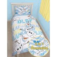 'Disney Frozen Olaf Single Bedding Set - Duvet Cover And Pillowcase Set