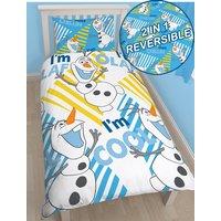 'Disney Frozen Olaf Single Duvet Cover And Pillowcase Set
