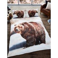 3D Bear Single Duvet Cover and Pillowcase Set