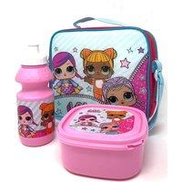 LOL Surprise 3 Piece Lunch Bag Set - Pink