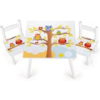 Owls Wooden Table and Chairs