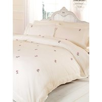 Alicia Floral Cream / Pink King Size Duvet Cover and Pillowcase Set