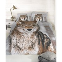 Wolf Design King Size Duvet Cover and Pillowcases Set