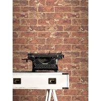 'Red Natural Brick Effect Wallpaper - 262918 Windsor Wallcoverings