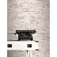 'Taupe Grey And Black Brick Effect Wallpaper Windsor Wallcoverings