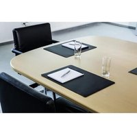 Durable (420 x 300mm) Desk Mat (Black) for Conference Rooms