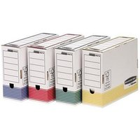 Fellowes Bankers Box (A4) 100mm Transfer File (Assorted Colours) - 1 x Pack of 12 Transfer Files