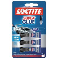 Henkel Loctite Mini Trio Ideal for Leather Wood Metal Stone Glass and Most Plastics