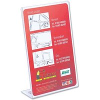 Slanted Side Loading (A5) Desktop Sign Holder Clear