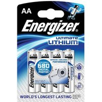 Energizer LR06 1.5V AA Ultimate Lithium Battery (Pack of 4)