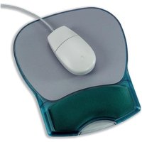 Mouse Mat Pad with Wrist Rest Gel (Translucent Blue)