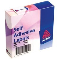 Avery 24-404 White Labels in Dispensers [Pack 1400]