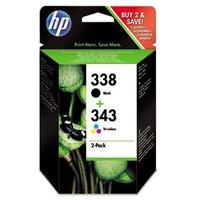 HP 338/343 (SD449EE) Original Multipack Ink Cartridges