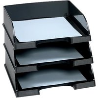 Letter Tray Robust Polystyrene (Black) with Extra Label Space