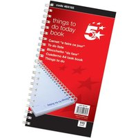 5 Star (280 x 140mm) Things To Do Today Book Wirebound 6 Months 115 Pages
