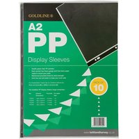 Goldline Display Sleeves Polypropylene Reinforced 150 Micron 6 Hole A2 Clear Ref PDSA2Z [Pack 10]