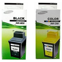 1 Samsung M50 Black + 1 Samsung C60 Colour Original Cartridges