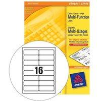 Avery 105x37mm Copier Labels (White) - 16 Per Sheet (1600 Labels)