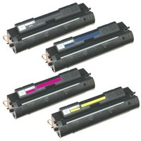 1 Full Set of HP C4191A and 1 x Colour Set C4192A-4A C/M/Y (Remanufactured) Toner Cartridges