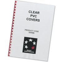 5 Star (A4) Comb Binding Covers PVC 200 micron (Clear) Pack of 100