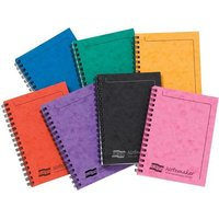 Europa Notemaker Book Sidebound Ruled 80gsm 120 Pages A6 Assorted A Ref 482/1138Z [Pack 10]