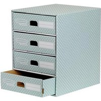 Fellowes Bankers Box (A4) 4 Drawer Unit (Green/White)
