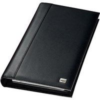 Sigel Torino Napa Leather 160 Card Capacity (275mm x 160mm x 35mm) Business Card Organiser (Black)
