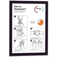 Durable Magaframe (A3) Self-Adhesive Information Sign with Folding Magnetic Front Panel (Black) - Pack of 2