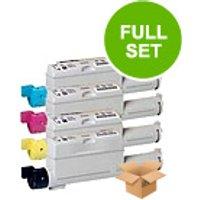 1 Full Set of Xerox 106R01221 Black and 1 x Colour Set 106R01218/19/20C/M/Y (Remanufactured) Toner C