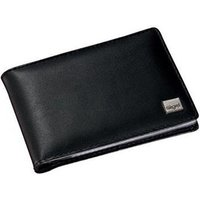 Sigel Torino Napa Leather Business Card Holder (75mm x 110mm x 16mm) with 20 Clear Pockets (Black)