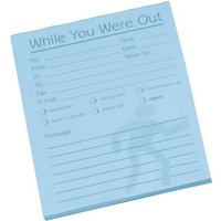 Message Pad (While You Were Out) 80 Sheets of Pale Blue Paper (1 x Pack of 10)