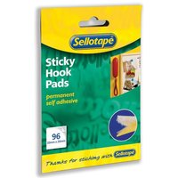 Sellotape Sticky Hook Pads Yellow (Pack of 96)