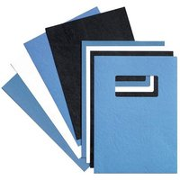 GBC (A4) Binding Covers Leatherboard Window 250g/m2 (White) - 1 x Pack of 50 Binding Covers