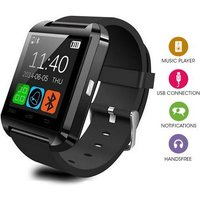 Bluetooth Smart Watch With Built In Speaker and Microphone for IOS and Android - Black