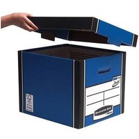 Fellowes Bankers Box Premium 725 (A4/Foolscap) Classic Storage Box (1 x Pack of 10 Storage Boxes) Ref 7250603