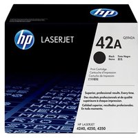 HP LaserJet Q5942A Black Original Standard Capacity Toner Cartridge with Smart Printing Technology